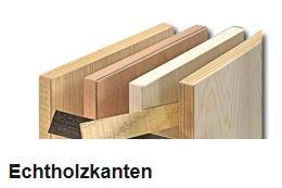 Echtholzkanten mit Schmelzkleberbeschichtung