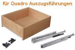 Holzschubkasten passend zu Quadro Auszugsführung