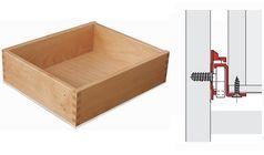 Holzschubkasten aufgesetzter Boden