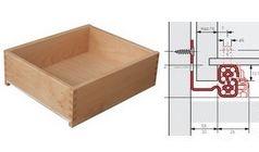 Holzschubkasten eingenuteter Boden