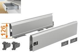 ArciTech Komplettsets für variable Schubkastenbreiten Höhe 126mm