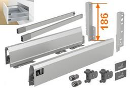 ArciTech Komplettsets für variable Schubkastenbreiten Höhe 186mm