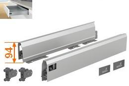 ArciTech Schubkastensets für variable Schubkastenbreiten, Höhe 94mm