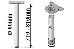 Tischbeinlänge 710-810mm