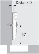 Anschraub-Kreuzmontageplatte TOP 0mm sensys