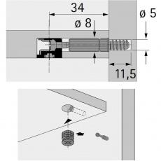 Twister Einschraubdübel für Rastex 15,  DU 232