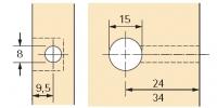 Rastex 15 für 19mm Böden ohne Abdeckrand blank
