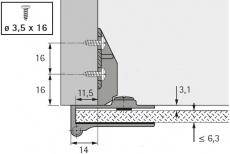 Glastürscharnier ET 5160 (Garnitur)
