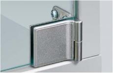 Glastürscharnier ET 5150 vernickelt matt (Garnitur)
