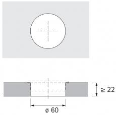 Kabeldurchlass 60mm schwarz