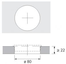 Kabeldurchlass 80mm Chrom Optik glanz