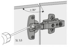 Öffnungswinkelbegrenzer für Sensys 8639i W 85°
