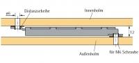 Rastomat, Verstellbeschlag für Kopf- und Fußteil (10 Raster)