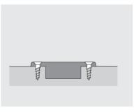 Befestigungsschraube Scharniertopf  3,5x16 vernickelt  (200St.)
