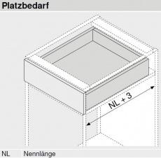 MOVENTO mit BLUMOTION S, Vollauszug 40 kg, NL=420, BLUM 760H4200S ZN