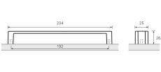 Möbelgriff -Intra- Chrom glanz / Chrom matt  aus Zink  192mm