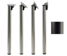 Tischbeine ø50mm x 710mm, klappbar, schwarz matt (Set)