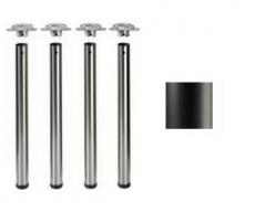 Tischbeine ø50mm x 710mm schwarz matt (Set)