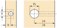 Rastex 15 für 18mm Böden ohne Abdeckrand vernickelt