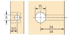 Rastex 15 für 19mm Böden mit Abdeckrand vernickelt
