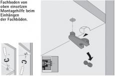 Exzenter Verbinungsbeschlag VB 36 M für Böden 16mm