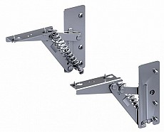 Drehklappenbeschlag Kinvaro T-57 Set, vernickelt, zur Holzanbindung (Garnitur)