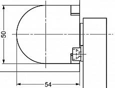 Klappenscharnier / Deckelscharnier mit Dämpfung  (Garnitur)  2 - 3,4 Nm