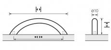 Möbelgriff -Vada- Bohrabstand 64mm  Edelstahl gebürstet