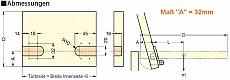 Klappenscharnier / Deckelscharnier mit Dämpfung  (Garnitur)  3,4 - 5Nm
