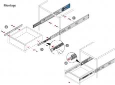 Kugelauszug KA 4532 Silent System Vollauszug 300mm (Garnitur)