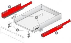 QuadroV6 SilentSystem für InnoTech Nennl. 350mm Korpusseite 16mm