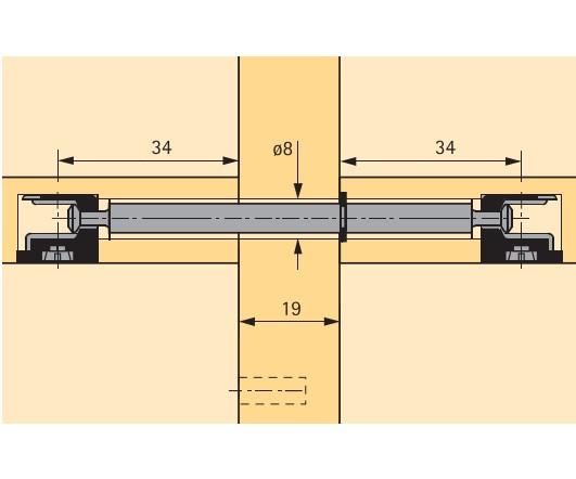 Doppeldübel für 16mm Mittelseiten 10 Stück