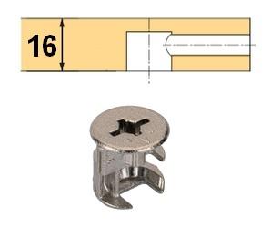 Rastex 15 für 16mm Böden mit Abdeckrand vernickelt