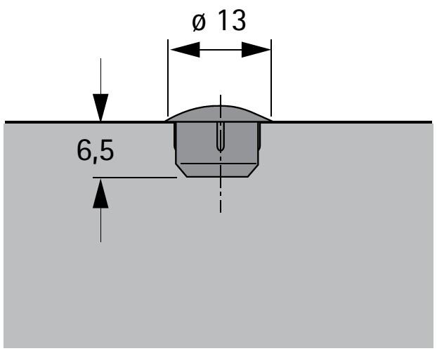 abdeckkappen f r 8mm bohrl cher kunststoff grau selbst. Black Bedroom Furniture Sets. Home Design Ideas