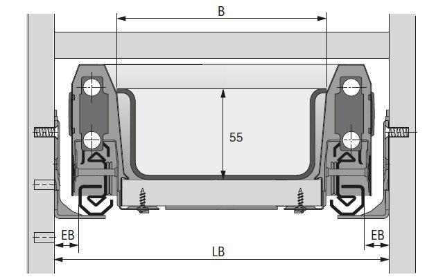 besteckeinsatz orgatray 440 breite 601 bis 700mm selbst. Black Bedroom Furniture Sets. Home Design Ideas