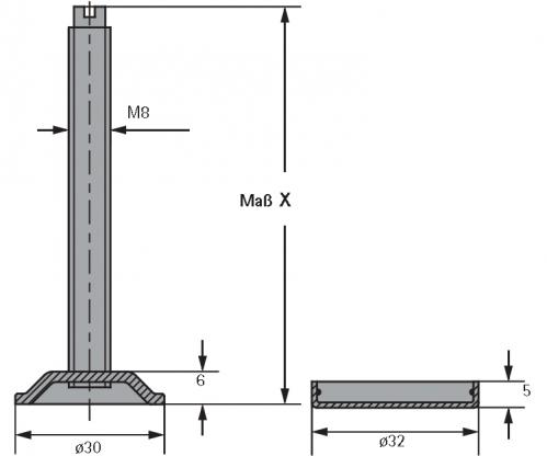 Sockelverstellschraube Mit Gewinde M8 80mm Selbst Schreinern De