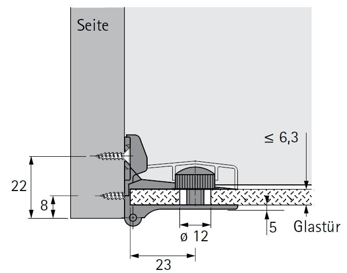glast rscharnier et5150 z vernickelt matt mit zuhaltung selbst. Black Bedroom Furniture Sets. Home Design Ideas