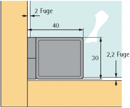 glast rscharnier et 5150 vernickelt matt f r einliegende. Black Bedroom Furniture Sets. Home Design Ideas