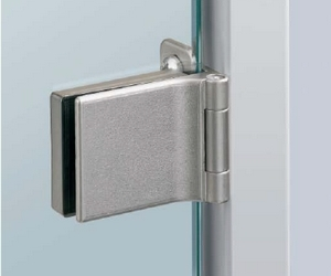 Glastürscharnier ET 5150 Z vernickelt matt