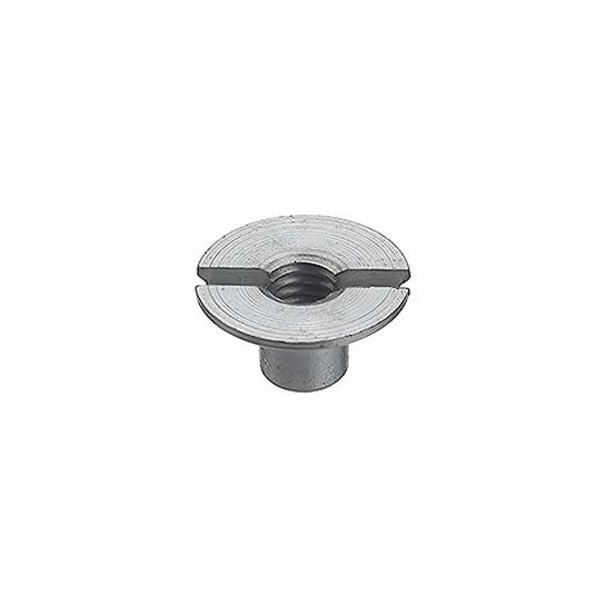 Senkmuttern, Stahl verzinkt Gewinde M 6,  ø 16 mm