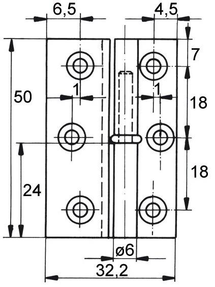 Häufig Möbelband 260, Kröpfung D 7,5 Durchmesser 6mm, RECHTS - Selbst NN83