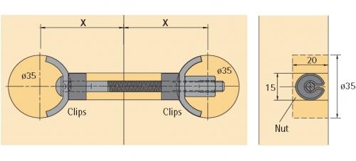 arbeitsplattenverbinder avb 5 100mm selbst
