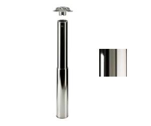 Tischbein ø80mmx690mm verstellbar bis 870mm, hochglanz verchromt