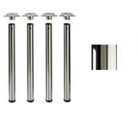 Tischbeine ø60mm x 710mm Hochglanz verchromt (Set)