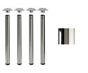 Tischbeine ø50mm x 710mm hochglanz verchromt (Set)