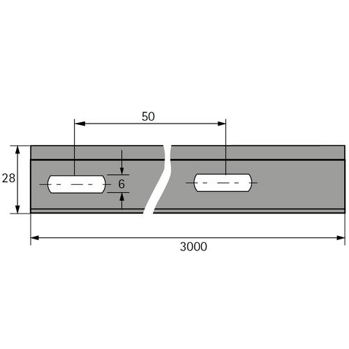 Aufhängeschiene für Möbel Tyb B zu Schrankaufhängern