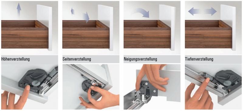 quadro 4d v6 push to open vollauszug 300mm. Black Bedroom Furniture Sets. Home Design Ideas