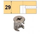 Rastex 15 für 29mm Böden ohne Abdeckrand vernickelt
