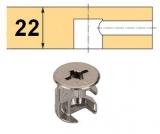 Rastex 15 für 22mm Böden ohne Abdeckrand vernickelt