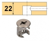 Rastex 15 für 22mm Böden mit Abdeckrand vernickelt